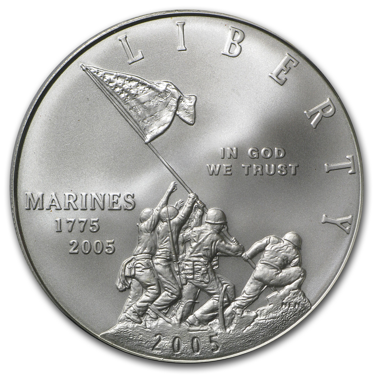 2005-P Marine Corps 230th Anniv $1 Silver Commem MS-70 PCGS